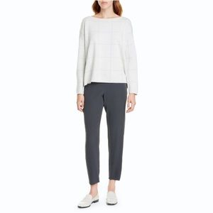 Eileen Fisher Silk Slouchy Crepe Ankle Pants